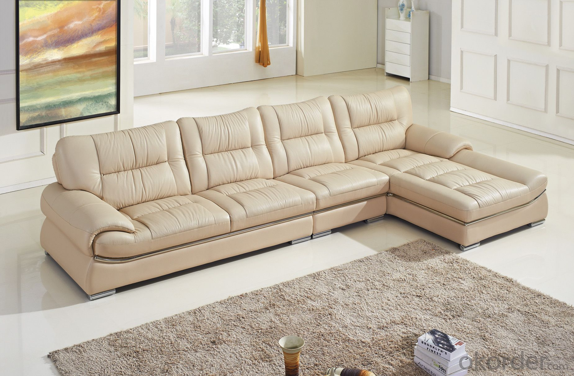 CNBM US popular leather sofa set CMAX-11
