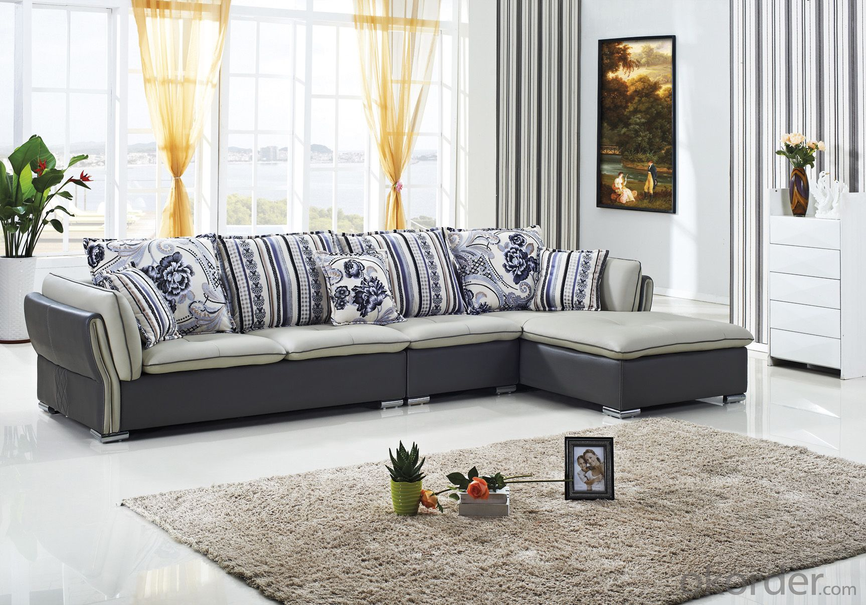 CNBM US popular leather sofa set CMAX-12