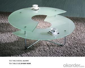 Modern  crtstal desk colorful styles CMAX-07