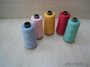 30s,32S spun polyester yarn black color