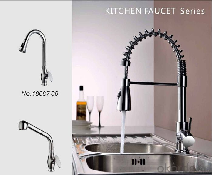 Contemporary minimalist taps for kitchen