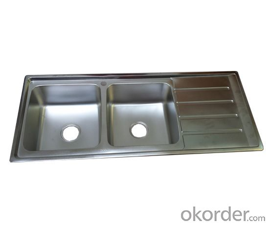 Stainless Steel Kitchen Sinks  with Drainboard 1200x500mm