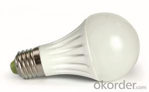 7W Aluminum Plastic Bulb, A60 E27 led bulbs , 230 beam aluminum bulb
