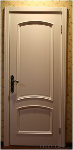 2014 newest design unfinished sound knotty solid pine wood door