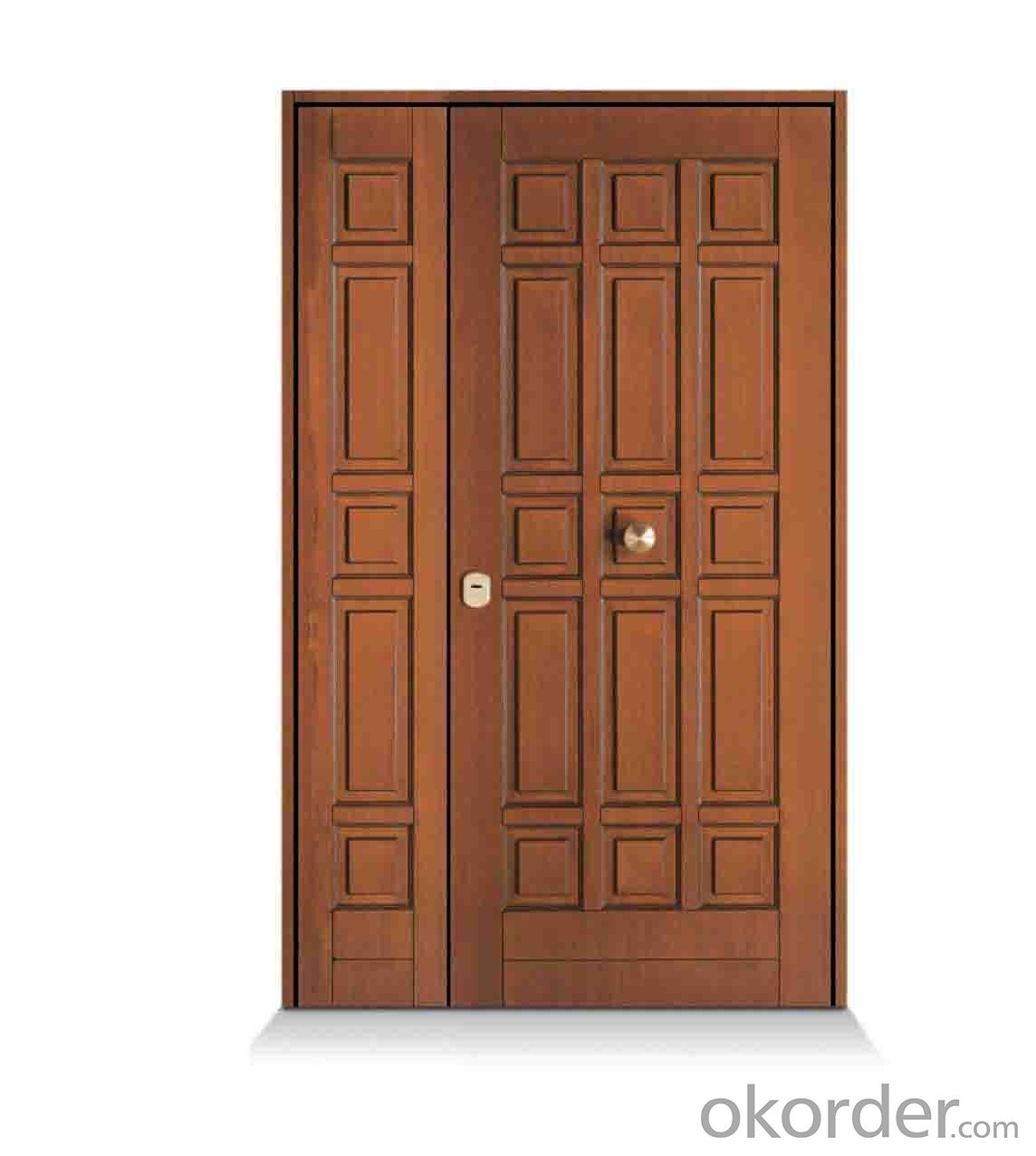 PVC MDF laminated Wooden Door VISION PANEL