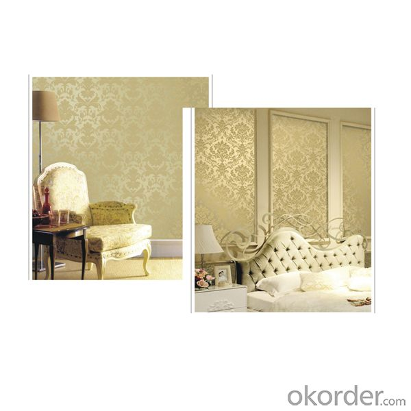 non woven backed with pvc embossed fashion desigh wallpaper