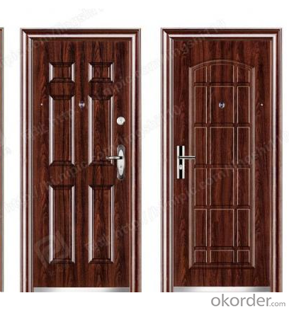 Exclusive paint security steel door with Europe standard(ISO/CE SGS approved)
