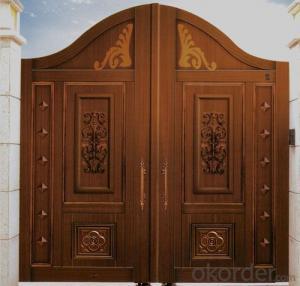 NEW EMBOSSED DESIGN Luxury Modern Security Metal Door