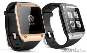 New arrival cheap price touch screen smart watch bluetooth mobile phone