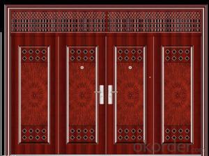 Fire resistant rated wood PVC door design