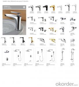 Faucet Spray head bathroom modern double basin
