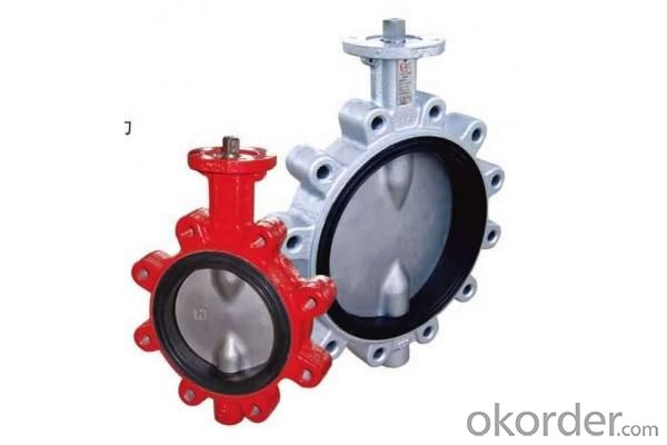 Ductile Iron flanged  Butterfly valve DN80