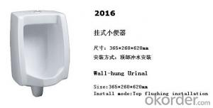 Wall Hung Male Ceramic Men's Corner Urinal -2016
