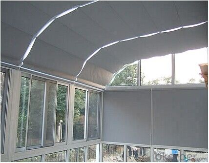 Motorized FCS Folding Skylight Blinds Used in Projects