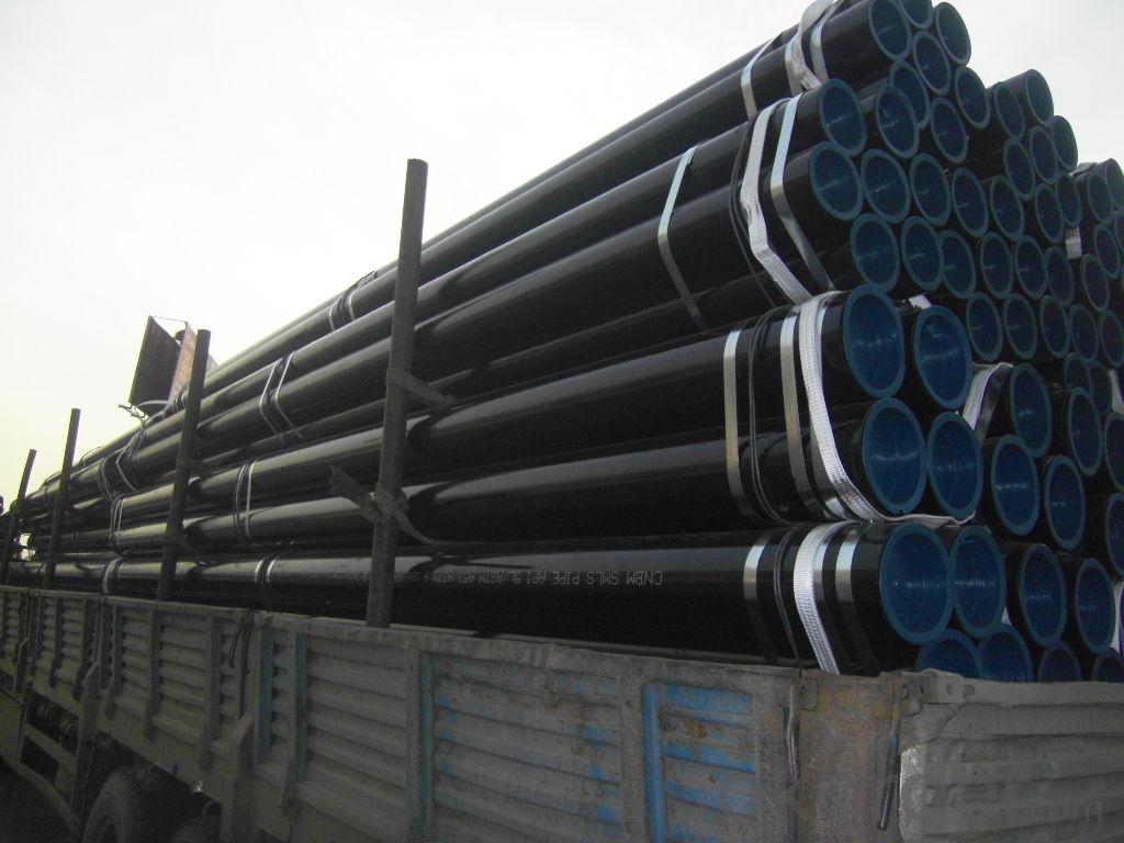 Black ASTM A106 Gr.B Sch40 seamless steel pipe