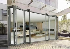 Double Glazing Aluminium Modern design Folding Door