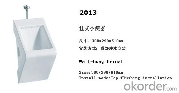 wall hung male ceramic men's corner urinal -2013