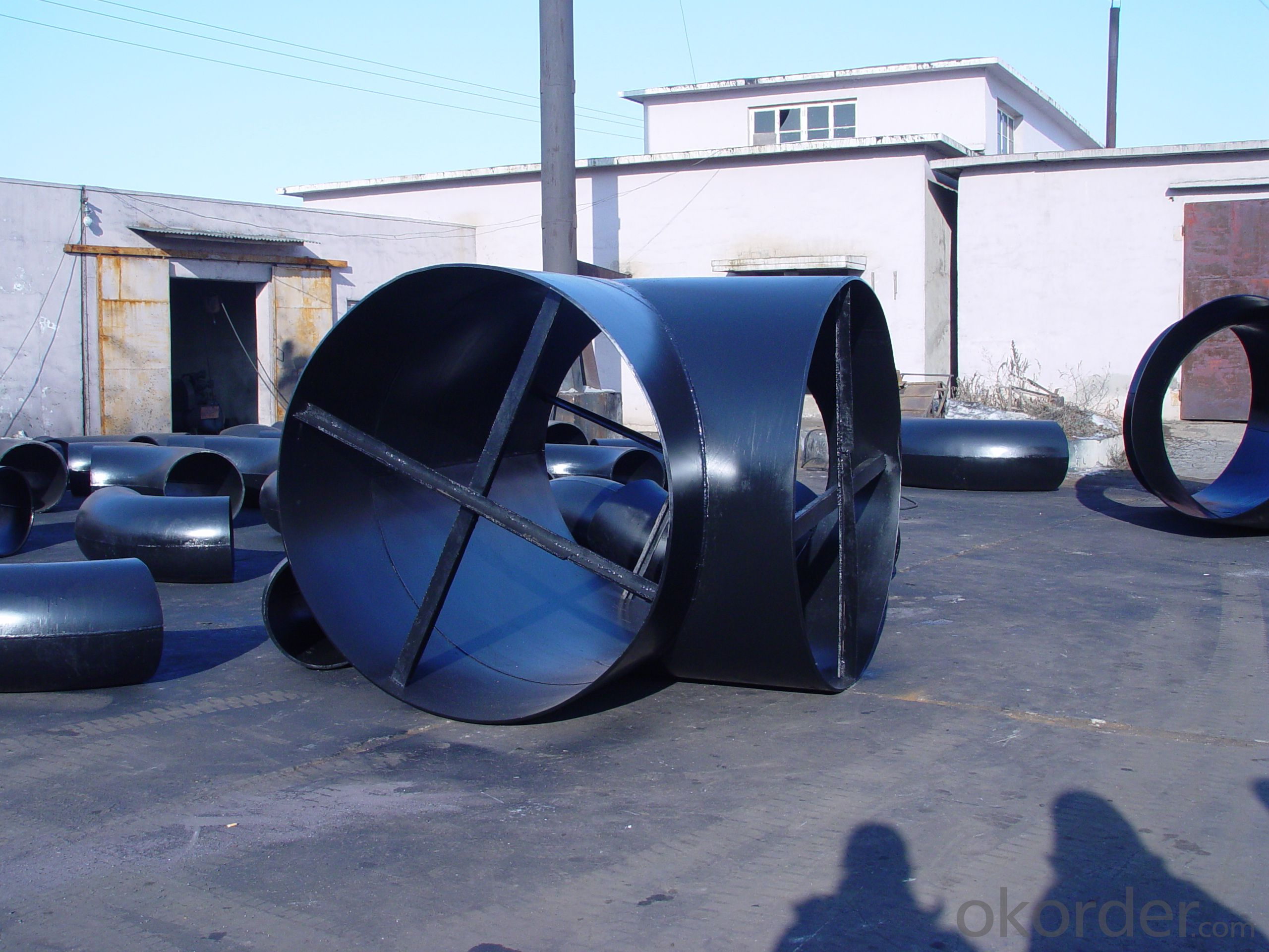 STEEL PIPE BUTT WELDED 90D ELBOW LR A235 WPB ANSI B16.9 BEST QUALITY