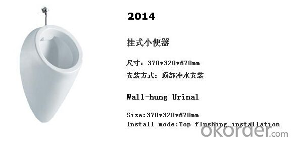 wall hung male ceramic men's corner urinal -2014