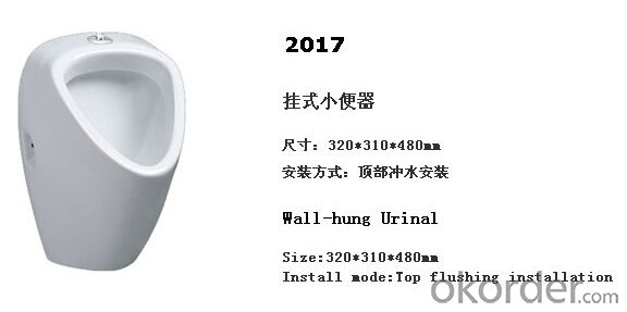 wall hung male ceramic men's corner urinal -2017