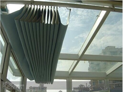 Folding Skylight Blinds Used in Project, Hotel, Lobby, etc