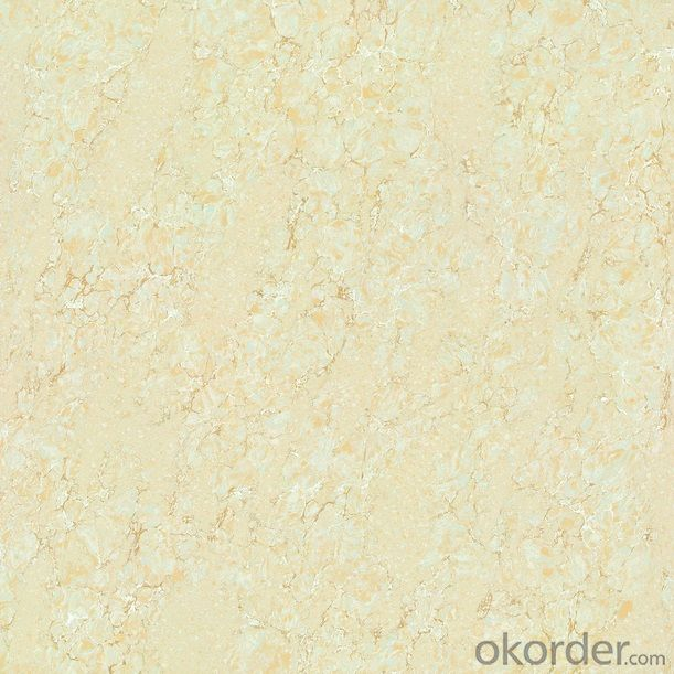 Polished Porcelain Tile Double Loading Platinum Serie Dark Beige Color 6802