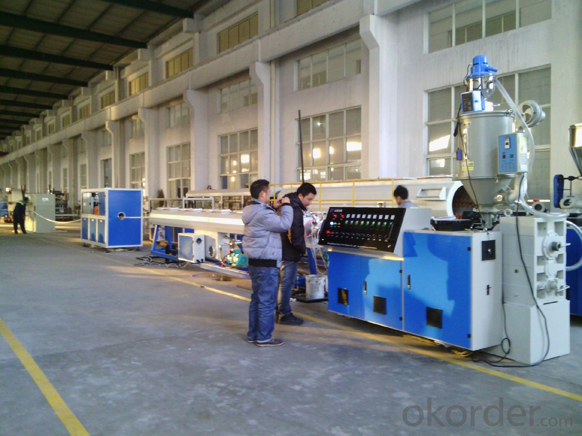 PE pipe extrusion line / Plastic pipe extruder / Plastic pipe extrusion machine