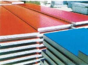 Fire resistance rock wool foam sandwich panel for wall and roof best price