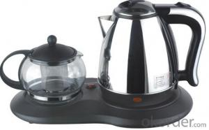 1500W  Stainless Steel Electric Kettle and glass pot