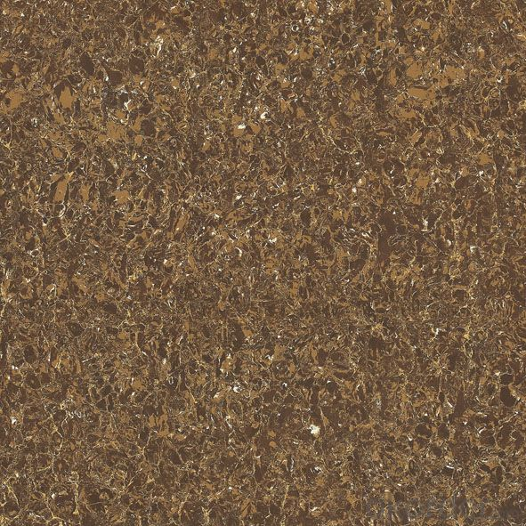 Polished Porcelain Tile Double Loading Pulati Seire Brown Color 6902