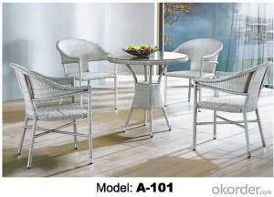 Outdoor furniture Hand Rattan Coffe chair & table suite A-101