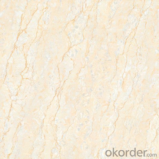 Polished Porcelain Tile Double Loading Natural Stone Serie Beige Color 63201