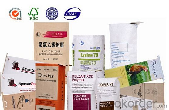 25kg White Kraft Paper Bag for Cement Paper Bag with Valve