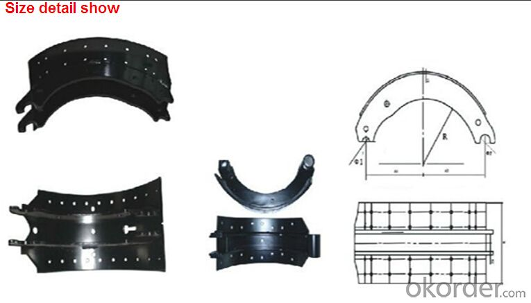 Barke ling heavy truck brake lining for Mercedes Benz 19486