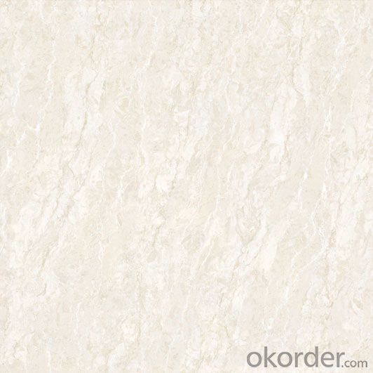 Polished Porcelain Tile Double Loading Natural Stone Serie White Color 6601