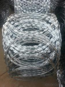 High Qaulity Galvanized Flat wrapped Razor Barbed Wire