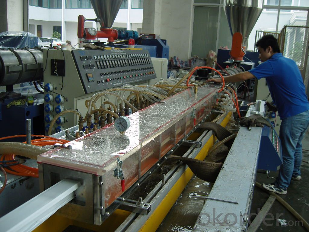 Door frame profile making machine/PVC windows and doors profile extrusion line