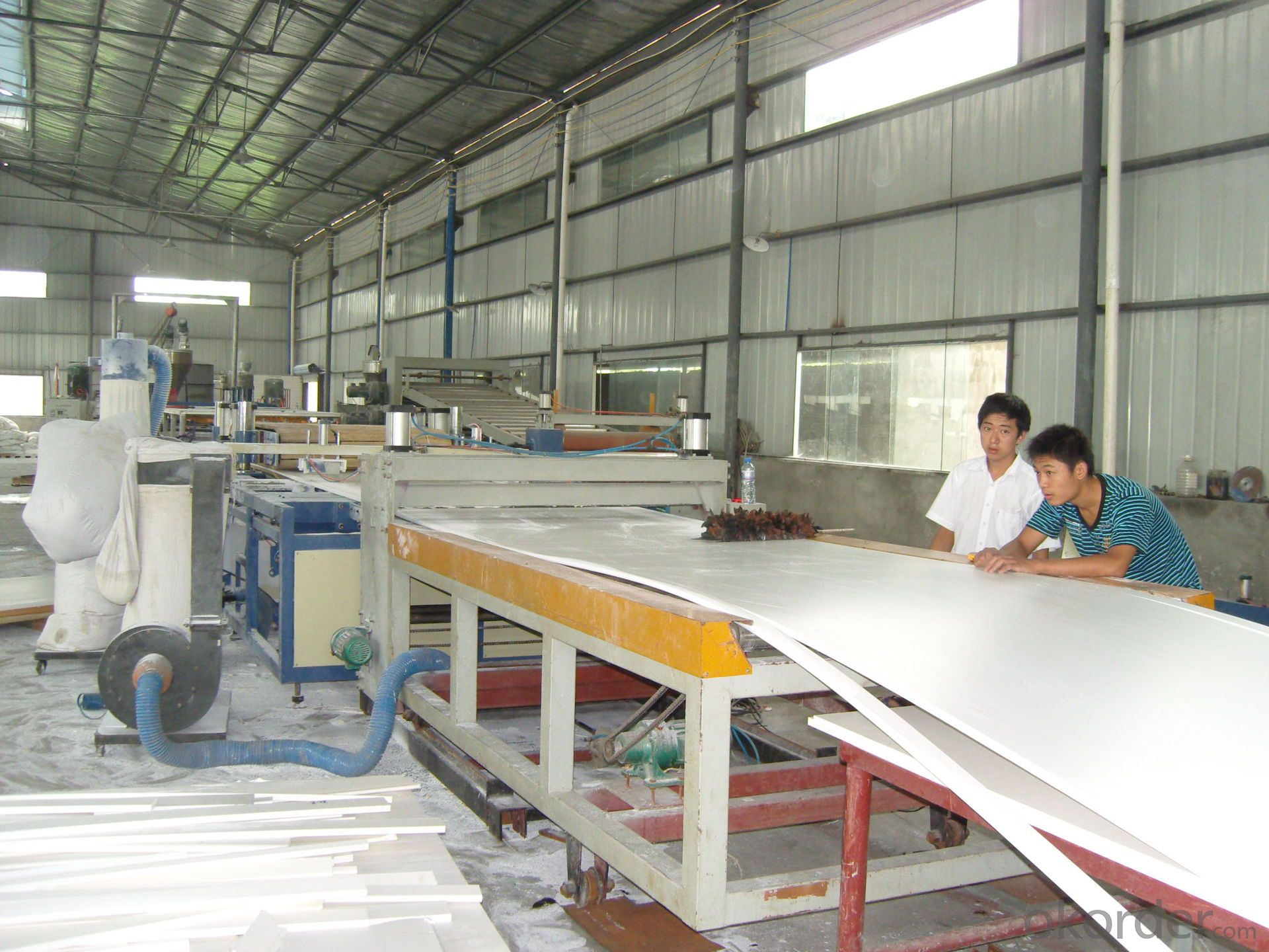 pvc foam sheet production line/wpc foaming board extrusion line/plastic machinery