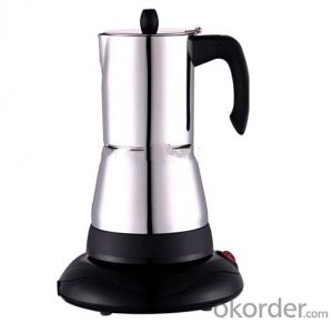 low wattage electric travel coffee maker stain steel stove top electric coffee maker