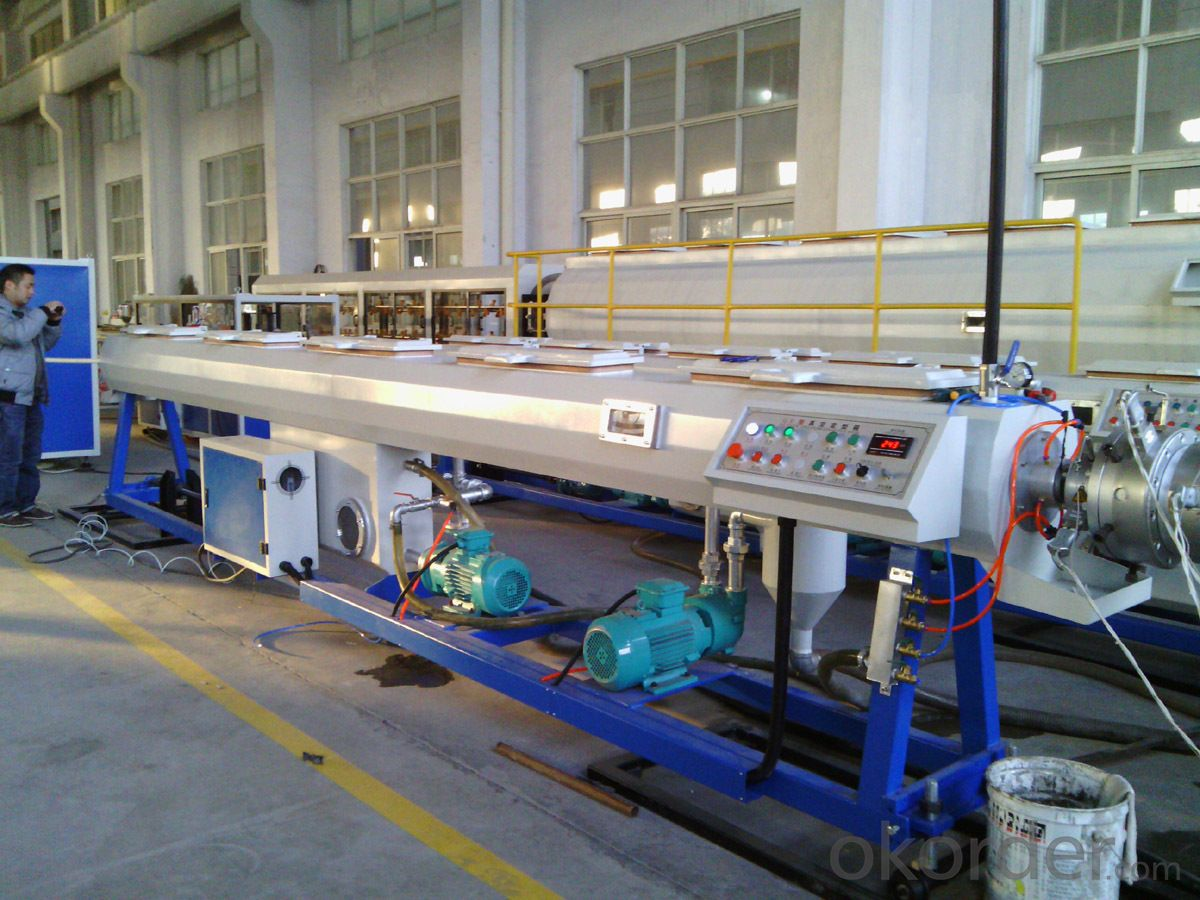 pvc pe single wall corrugated tube extruder line