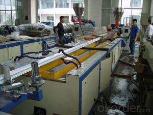 Windows Door Profile Double Screw Extrusion Plastic Profile Production Line