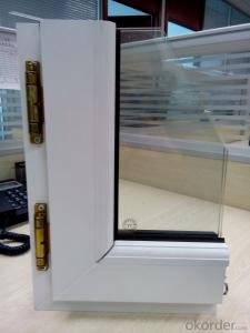 PVC-u  Windows, Plastic Windows with Double Glass