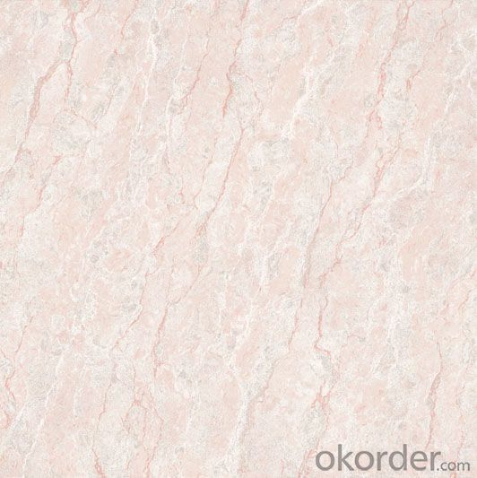 Polished Porcelain Tile Double Loading Natural Stone Serie Pink Color 6401