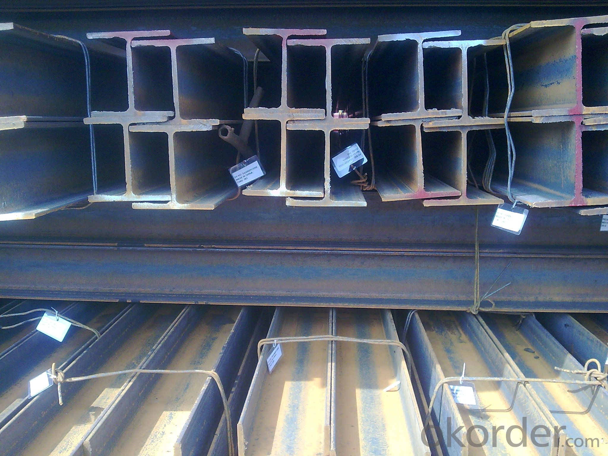 Alloyed Hot rolled I beams/Ibeams GB standard/JIS standard