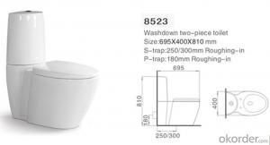 Two Piece Toilet wc Toilet,Ceramic Toilet Cheap Sale-8523