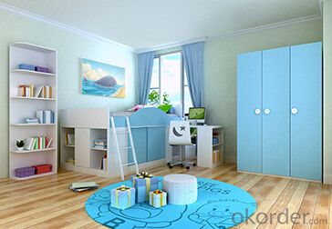 Hot Selling Children Wooden Single Bed with Night Stands WB04