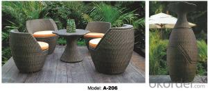 Combined Garden Furniture Leisure Rattan Outdoor Furniture   A-206