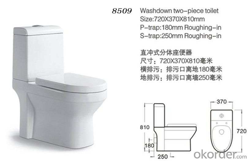 Two piece toilet wc toilet,ceramic toilet cheap sale-8509