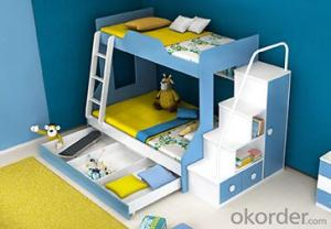 Hot Selling Children Wooden Single Bed with Night Stands WB03
