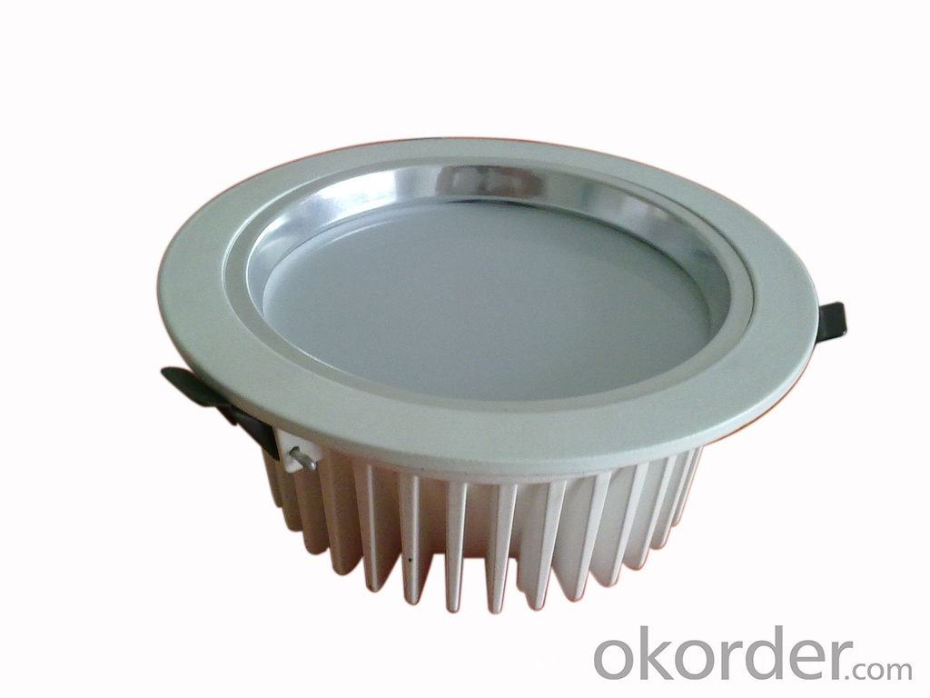 ed down light,dimmable,CRI80,150 degree concave lens, 2.5